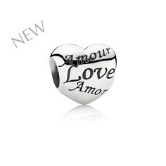 Engraved PANDORA Heart Charm in Sterling Silver - coming this spring for individual purchase!