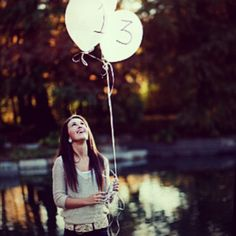 Senior Pictures but I have a feelin if I stared at balloons I would look like an…