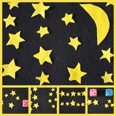 DIY Night Sky Felt Set and 5 Fun Math Games to Play