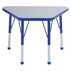 ECR4KIDS 18 x 30 in. Gray Top Learning Adjustable Activity Table