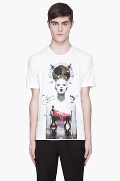 JUUN.J White I And The Word Applique T-shirt for men | SSENSE