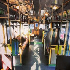 Inside a W-Class tram, Melbourne - Route Finally got the hang of riding the trams late into my first visit to Melbourne. Was a pro on the second trip :-D. Melbourne Tram, Cool Countries, Outer Space, Continents, Old Houses, Australia, City, Places, Trains