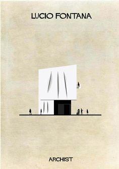 Archist: 27 edificios icónicos transformados en obras de arte, por Federico Babina.   diariodesign.com