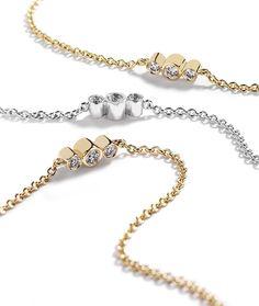 Hartmann's Signaturkæde (90 cm) i 18 kt. gulguld,  hvidguld eller rosaguld prydet med 31 brillanter, i alt 1,01 ct. Top Wesselton/VVS-VS (lille model).    Kr. 29.500,- Bracelets, Gold, Jewelry, Model, Fashion, Diamond, Moda, Jewels, Schmuck