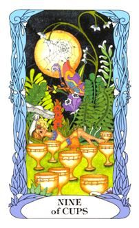 November 21 Tarot Card: Nine of Cups (Moon Garden deck) With hopeful thoughts and meaningful intentions, your highest wishes and dreams can come true now