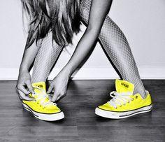 yellow converse :))