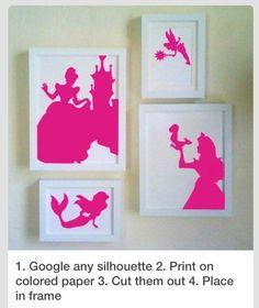 #Silhouettes Principesse Disney #bambini