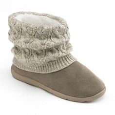 SONOMA life   style Knit Bootie Slippers