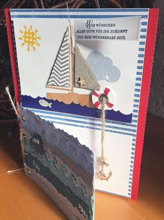 #ruhestand #karte #stampin+up+zum+neuen+abschitt #paper+smooches+sailboat+die #Stempeltatze   #Stempeltatze:Sailaway...Ruhestand