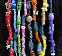 Dreads Hair Wraps and beads handmade bohemian hippie Dreadlocks tribal Falls Boho Extensions on Etsy, $9.56