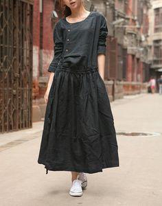 Ropa Vestido Vestido de Negro / Custom vestido de por camelliatune