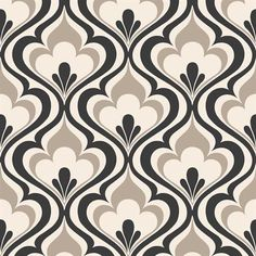Brewster Home Fashions Simple Space II Lola Ogee Bargello x Damask Embossed Wallpaper Color: Black Interior Wallpaper, Damask Wallpaper, Embossed Wallpaper, Wallpaper Samples, Wall Wallpaper, Decoupage Vintage, Beacon House, Beacon Hill, Art Nouveau