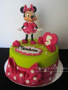 Doces Opções: A Minnie no 5º aniversário da Mariana Birthday Cake, Disney, Desserts, Food, Mariana, Sweets, Tailgate Desserts, Deserts, Birthday Cakes