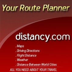 Distancy is a perfect route planner, distance calculator for all your inquiries. Whatever you want to go in the world. You can learn distance between world cities.Distancy is a distance calculator that is designed for everyone who goes from a place to another.Everything that you will be able to need about travel. Do not forget to use route planner before you travel.