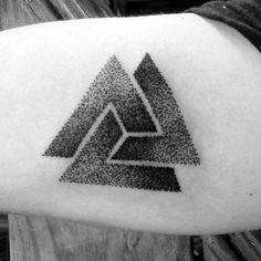 Borromean Rnigs Valknut Guys Dotwork Inner Arm Tattoos