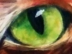 Christy Obalek, visual artist: Glazing techniques for painting cat eyes in watercolor