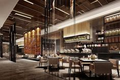 Design projects lighting design - Home & Living Restaurant Design Concepts, Modern Restaurant Design, Luxury Restaurant, Restaurant Lounge, Cafe Design, Japanese Restaurant Interior, Oriental Restaurant, Chinese Restaurant, Design Hotel