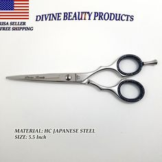 """5.5"""" Hair Cutting Scissors Barber Shears Hairdressing Salon - ICE Tempered #DivineBeauty"""