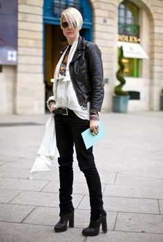 edgy fashion editor outfit