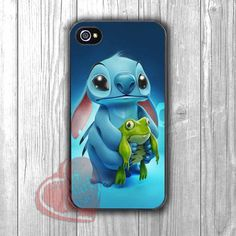 Disney cute stitch frog - DIT for iPhone 6S case, iPhone 5s case, iPhone 6 case, iPhone 4S, Samsung S6 Edge