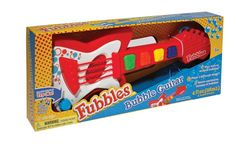 Not only does the Fubbles No-Spill Bubble Guitar play music, but push a button and you can create a stream of bubbles. It can be used with or without bubbles or sound