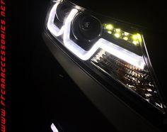 BMW type Headlamp installed on Honda City by team FF Car Accessories, Chennai