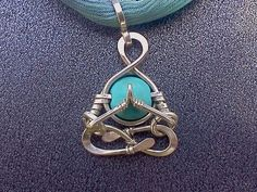 "Little Yogi, ""Namaste""in Silver, Turquoise, yoga, singing meditation, Lotus, voice, Namaskar, mudra, zen, heart chakra, lemurian diamond"