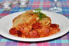 Hagyományos szabolcsi töltött káposzta Recept képpel - Mindmegette.hu - Receptek Hungarian Recipes, Bacon, Pork, Food And Drink, Turkey, Vegan, Chicken, Eastern Europe, Gastronomia