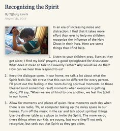 Have you ever wondered how you can help your children recognize the Holy Ghost in their lives?