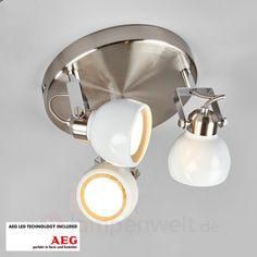 Nima - runde LED-Deckenleuchte, GU10