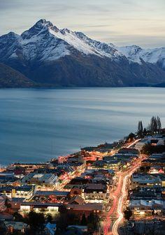 Queenstown, Otago, New Zealand @ Night