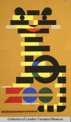 Zoo, by Abram Games, 1976 - London Transport Museum