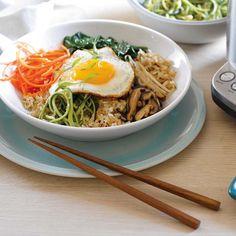 Vegetarian Bibimbap with Crispy Brown Rice | Williams-Sonoma Loved this stuff in Korea!