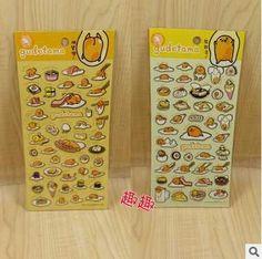 40pcslot Sanrio Gudetama Lazy Egg Cartoon Stickers Stationery DIY Stickers School Office Supply Wholesale