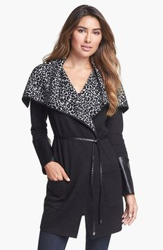 Beatrix Ost Print Wrap Sweater with Belt available at #Nordstrom