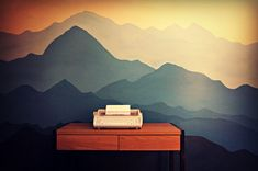 mountain mural.  I love this!