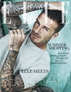 david beckham. ELLE Cover