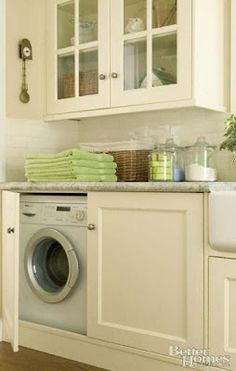 how to hide your washer and dryer | laundry cabinets that hide the washer, dryer. | When I marry rich...