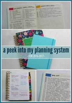 A Peek Into My Planning System - KaysePratt.com Pinterest 1