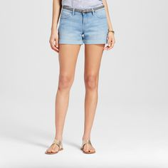 Women's Pendleton Ex-Boyfriend Jean Shorts - Crafted by Lee Light Wash 14, Blue Frost