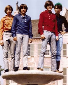 The Monkees - posing on the Euro street set at 'then' Columbia/Warner Brothers lot - 1967