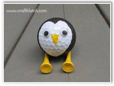 ▶ DIY Recycled Golf Ball Penguin - YouTube  Full written directions for this cute guy are at www.craftklatch.com