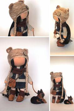 Bambola del tessuto bambola Tilda colore di AnnKirillartPlace