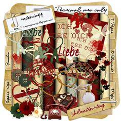 saxonia44: Valentin Day. Colección de papeles y elementos dedicado al amor y especialmente a San Valentín.