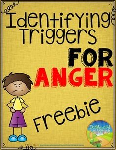 Anger Management Worksheets Triggers for Anger - Anger Management SkillsHelp kids identify their anger triggers with this free set of three printable worksheets. Two worksheets focus on having students list the triggers that cause them to feel angry. Anger Management Worksheets, Anger Management For Kids, Stress Management, Conflict Management, Behaviour Management, Elementary School Counseling, School Social Work, School Counselor, School Ot