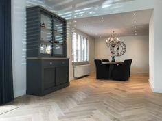 White wash eiken houten visgraat vloer Modern, House, Trendy Tree, Home, Haus, Houses