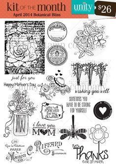 Botanical Bliss {4/14} Kit of the Month  - Unity Stamp Co