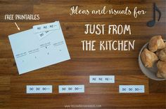 """Free printables and ideas for the folk song """"Just From the Kitchen""""."""