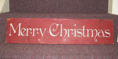 large rustic Merry Christmas sign by BlondeBomberSigns on Etsy,