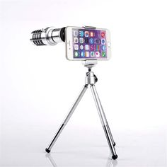 Mobile Phone Lens 12X Zoom Telescope Camera Telephoto Lenses With Tripod Aluminum for iphone6 7 plus universal for samsung LG //Price: $US $22.04 & FREE Shipping //     #ipad